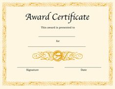 202 best award certificates images on pinterest award certificates