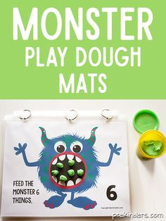 Cute Monster Play Dough Counting Mats for Preschool!