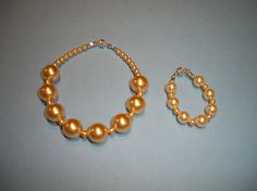 American Girl Doll JewelryGolden Pearls by WittyWhimsicals on Etsy, $10.00