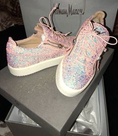 These are the shoes you'll wear inside your sparkly new car baby girl.