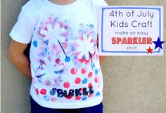 Cute & easy DIY Sparkler t-shirt for the 4th of July!