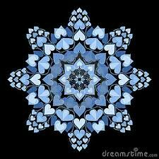 Mandala blue hearts