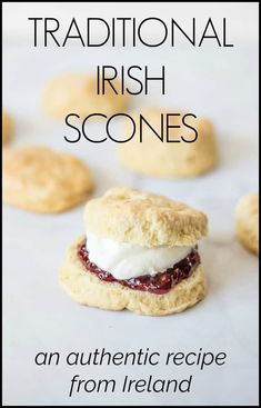 This is the best Irish scone recipe that I've found. They are buttery and delicious. Eat them for breakfast, afternoon tea or dessert and serve with clotted cream & jam. So delicious! Irish Desserts, Asian Desserts, Best Irish Scone Recipe, Irish Tea Cake Recipe, Tea Scones Recipe, Baking Recipes, Dessert Recipes, Breakfast Recipes, Scottish Recipes