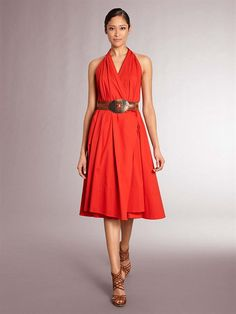 Beautiful Donna Karan red dress. Full bodied and with lots of movement, and very wearable.