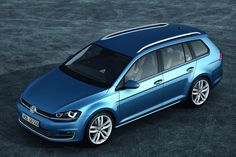 Volkswagen will expand the Golf range even further at the Geneva Salon de l'Automobile with the debut of the new Golf Variant (wagon). Like the new Golf hatchback, the Variant is significantly lighter than its predecessor, to the tune of up to 232 pounds Volkswagen Jetta, Volkswagen Golf Variant, Vw Golf Variant, Volkswagen Models, Golf Sport, Sport Cars, New Jetta, Vw Golf Tdi, Vw Tdi
