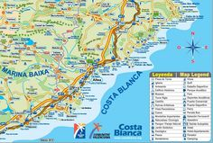 Calella tourist map Maps Pinterest Tourist map Spain and City