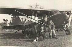 Aeronca e alunas do Aeroclube de Lucélia