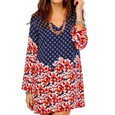 ❗️LAST 1❗️PRINTED DRESS Floral Bell Sleeve Swing Available Sizes: Small. New with tags.   • Beautiful and sophisticated, this floral printed  mini shift dress features an a-line swingy silhouette and v-neckline. • Soft, smooth material. • Fully lined, excluding long bell sleeves. • Perfect for dressing up or down!  • Polyester; USA.  • Measurements provided in comment(s) section below.    {Southern Girl Fashion - Boutique Policy}   ✔️ Same-Business-Day Shipping (10am CT). ✔️ Price shown is…
