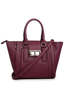 Chief Jenner Vegan Leather Tote in Plum | DAILYLOOK
