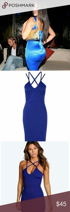 Midi Dress. Dark Blue Color, Midi Length, Never Worn Email me at LJrose213@gmail.com for any inquiries <3. Dresses Midi
