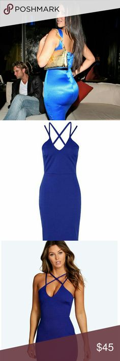 Midi Dress. Dark Blue Color, Midi Length, Never Worn Email me at LJrose213@gmail.com for any inquiries. Dresses Midi