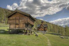 Norway - Stabbur og Stavkyrkje by Eldharjar on DeviantArt Viking House, Norway Viking, Visit Norway, Old Building, Photo Canvas, Scandinavian Design, Nature, Country, House Styles