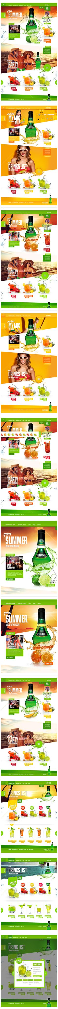 Midori - Website redesign by Garth Sykes, via Behance