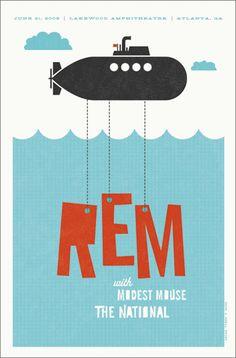 La bellezza dei poster del rock - REM, 21 giugno 2006, Atlanta (Georgia)