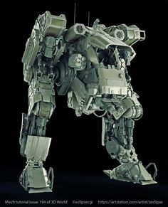 ArtStation - R-10T Mech 3D World 194 Tutorial, Paul Massey