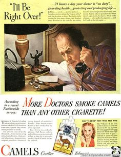 Anuncios antiguos que hoy estarían prohibidos....   Más doctores fuman Camel II