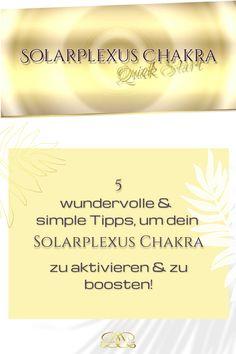 Nutze folgende einfache Alltags-Übungen & Tipps, um dein Chakra zu aktivieren & zu boosten! Ich habe dir auch eine wundervolle geführte Meditation dazu gepackt! #12chakren #chakra #chakras #12chakras #meinechakren #chakraboosten #solarplexuschakra Coaching, Yoga, Movie Posters, Graz, Solar Plexus Chakra, Chakras, Spiritual, Tips, Training