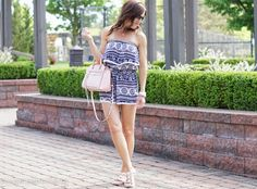 Two Peas in a Blog: Blue and White Romper