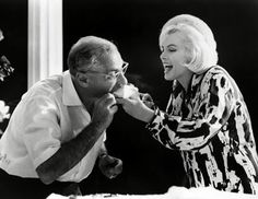 Marilyn Monroe's birthday... is that Groucho stealing a bite of cake?!?