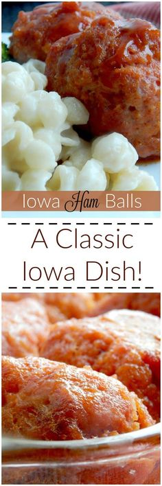 Iowa Ham Balls..a classic staple here in the Midwest!  Sweet, tangy and delicious, your family will flip for these!