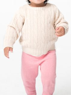Infant Cable Knit Sweater by American Apparel KIDS