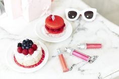How to wear Dior Makeup, especially their lipstick and lip gloss on your lips and also for an adorable cafe flatly with pastries and Celine Sunglasses