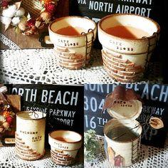 Tin Can Crafts, Clay Pot Crafts, Diy And Crafts, Tin Art, Cement Crafts, Mini Plants, Basket Decoration, Clay Pots, Beautiful Gardens
