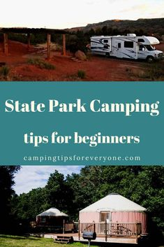 Beginner tips to plan a state park camping trip including types of camping you will find at state parks and how to reserve your campsite. #CTE Rv Camping Tips, Camping For Beginners, Camping Glamping, Rv Tips, Dinosaur Valley State Park, Rent A Tent, Parks Department, Get Outdoors, Family Travel
