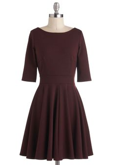Merlot Melange Dress - I want to make something like this for Thanksgiving, but more of a scoop neck