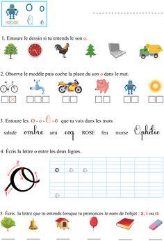 Le son o School Checklist, Grande Section, Preschool Education, Teaching French, Learn French, School Days, Montessori, Sons, Homeschool