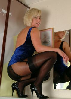 Stockings pantyhose layered