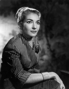 Portrait of Maria Callas by Baron, 1954
