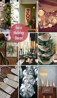 Easy holiday decor