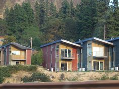 Cool condos near The Dalles, Oregon in the scenic Columbia Gorge.  ~ Photo by Kim Parsons Anderson