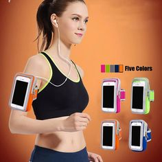 Universal Sport Running Arm Phone Case For Iphone7 6 6sPlus 5 xiaomi Waterproof Belt Pouch Mobile phone Zipper Bag For 5.7 inch