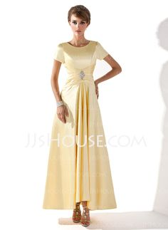 Mother of the Bride Dresses - $109.99 - A-Line/Princess Scoop Neck Asymmetrical Charmeuse Mother of the Bride Dresses With Ruffle Beading (008005699) http://jjshouse.com/A-Line-Princess-Scoop-Neck-Asymmetrical-Charmeuse-Mother-Of-The-Bride-Dresses-With-Ruffle-Beading-008005699-g5699