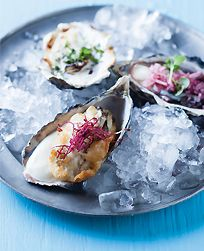 Making magic with Champagne and oysters!