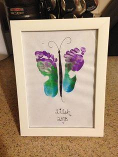 Baby footprint butterfly
