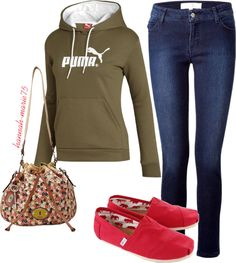 """""""Puma & TOMS ♥"""" by hannah-marie75 on Polyvore"""