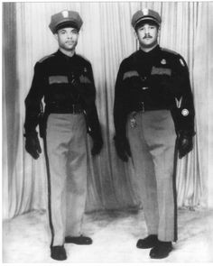 Officers Bobby Grayson (left) and Milton R. Lege (right). Milton R. Lege became the first African American sergeant in the El Paso Police Department. Texas, Heritage Month, African American History, Stoves, Bobby, Vintage Photos, Beautiful People, Cities, February