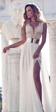Women sleeveless lace chiffon long maxi evening cocktail party wedding dress