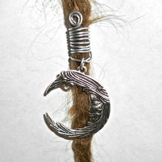 moon dread bead by seididread on Etsy, €6.00 :: Shop DreadStop.Com for Leather Dreadlock Cuffs, Ties & Dread Beads #dreadstop