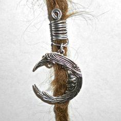 moon dread bead by seididread on Etsy, €6.00 :: Shop DreadStop.Com for Leather Dreadlock Cuffs, Ties & Dread Beads #dreadstop