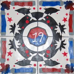 Personal Mandala in acrylic. School Painting, Painting Lessons, High School, Mandala, Symbols, Ideas, Art, Art Background, Grammar School