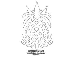 quilt printable stencils pineapple quilting pattern