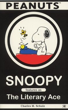 Snoopy Typing and Woodstock Flying Above The Typewriter and Laughing