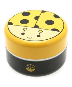 Another great find on #zulily! Yellow Ladybug Bento Box #zulilyfinds