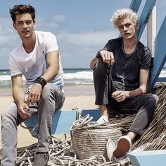 Francisco Lachowski and Lucky Blue Smith for Mavi: Dream Team Lucky Blue Smith, Francisco Lachowski, Handsome Boys, Cute Guys, Pretty Boys, Male Models, Character Inspiration, Beautiful Men, People