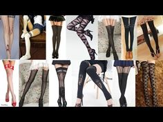 3 DIY Thigh Highs: DIY Lace Up Thigh Highs+DIY Pentagram Garter/Thigh Highs++DIY Cut out Thigh Highs - YouTube
