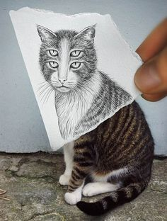 Ben Heine: Pencil vs Camera - http://www.moillusions.com/ben-heine-pencil-vs-camera/